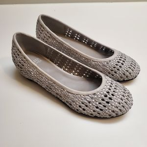 Eileen Fisher Woven Leather Flats Size 6.5